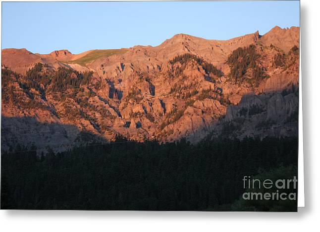 Alpenglow Greeting Card by Marta Alfred