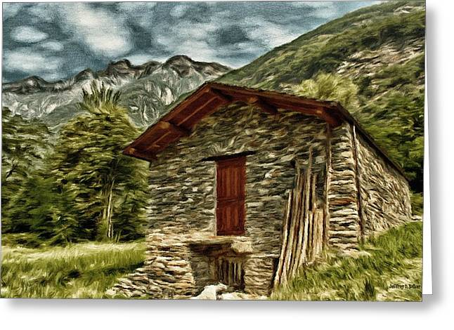 Alpine Ruins Greeting Card by Jeffrey Kolker