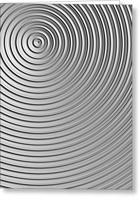 Greeting Card featuring the digital art Also Not A Spiral by Jeff Iverson