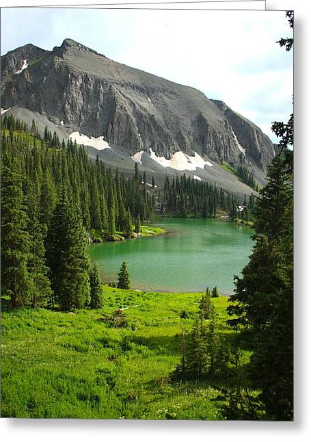 Alta Lake Colorado Greeting Card by Drusilla Montemayor