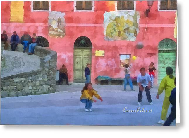 Alta Via Dei Monti Liguri - Liguria Mountains High Way Trek - Hohenweg Der Ligurischen Berge Greeting Card