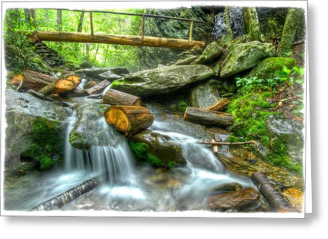 Alum Cave Bluff Trail Greeting Card by Debra and Dave Vanderlaan