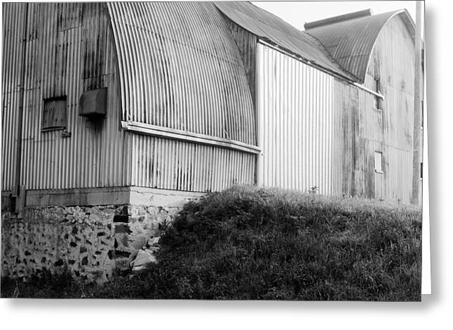 Aluminum Unique Barn Section Greeting Card by Jan W Faul