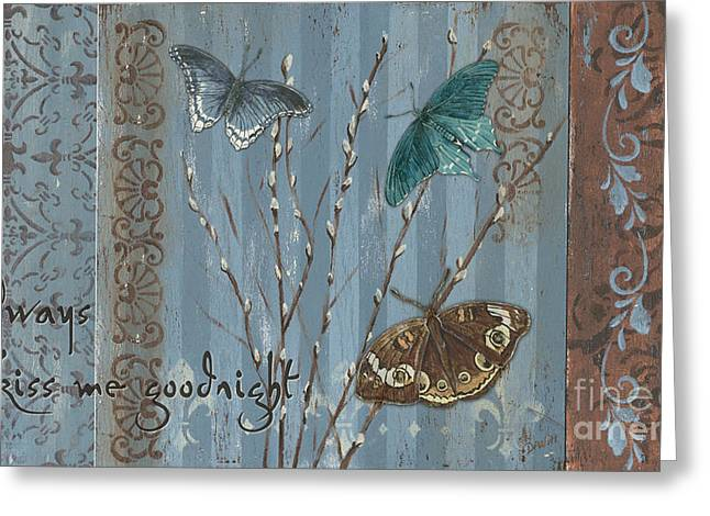 Always Kiss Me Goodnight Greeting Card by Debbie DeWitt