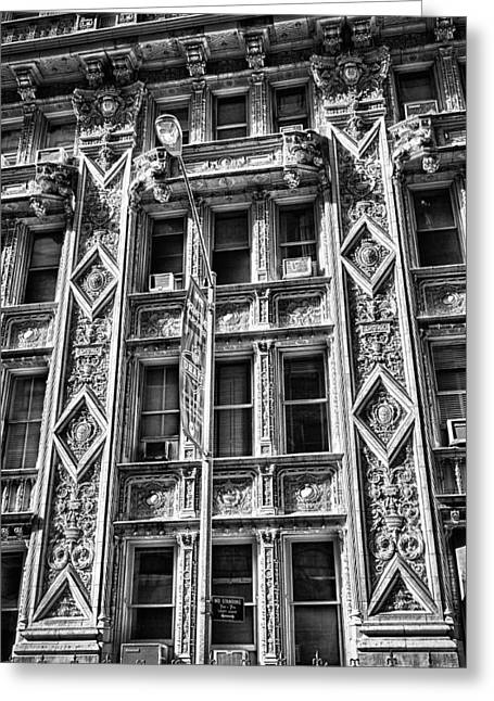 Alwyn Court Building Detail 15 Greeting Card by Val Black Russian Tourchin