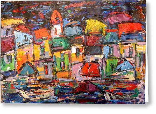 Amalfi At Night Greeting Card