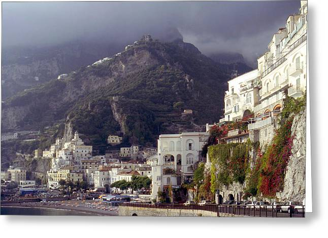 Amalfi Under Leaden Skies Greeting Card