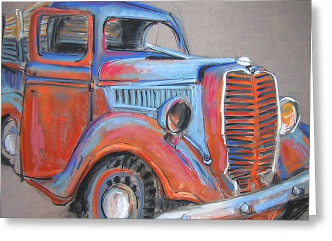 Amarillo Truck Greeting Card by Barbara Richert