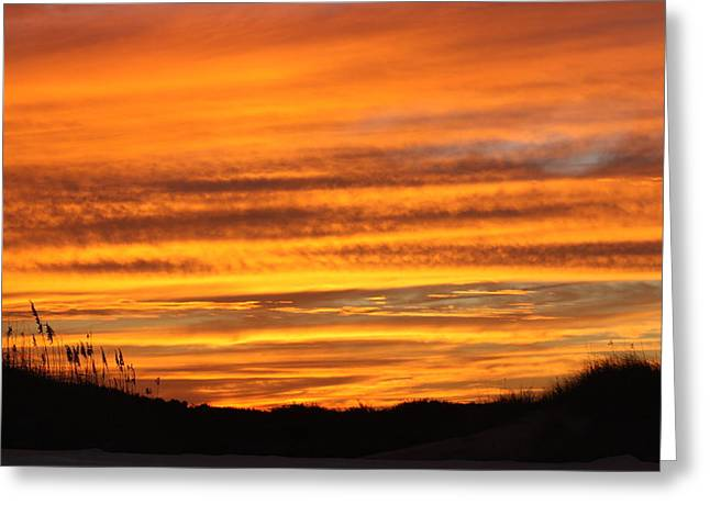 Amazing Sunset Over Obx Greeting Card by Kim Galluzzo Wozniak