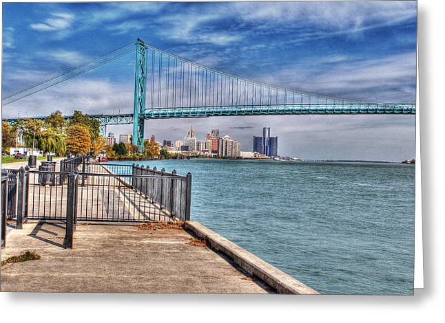 Ambassador Bridge Detroit Mi Greeting Card