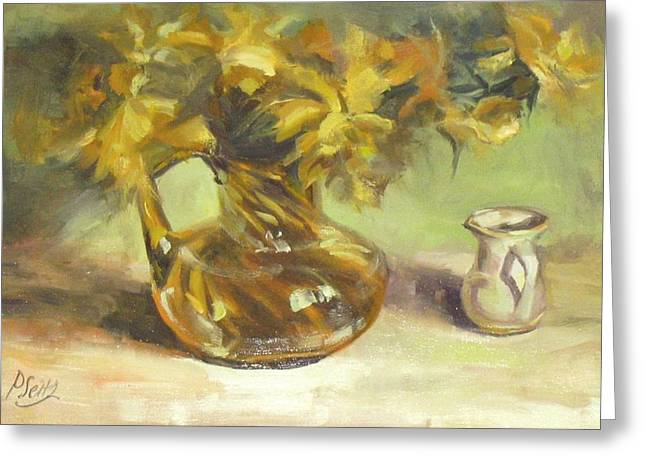 Amber Display Greeting Card by Patricia Seitz