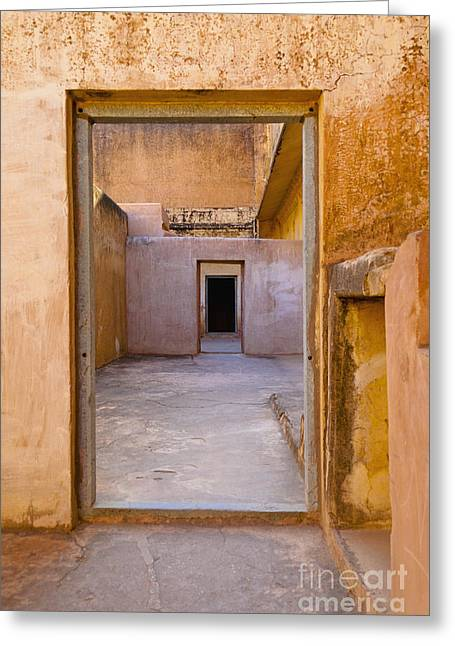 Amber Fort Doorway Greeting Card by Inti St. Clair