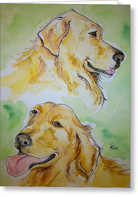Amber N Sadie Greeting Card