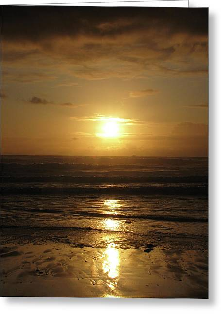 Amber Sunset Pacific IIi Greeting Card