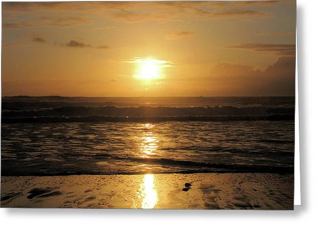 Amber Sunset Pacific Greeting Card
