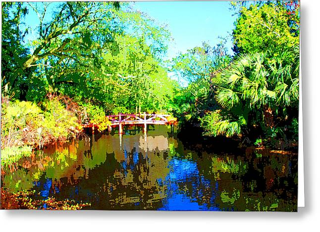 Amelia Island Bridge Greeting Card by Michael Dantuono