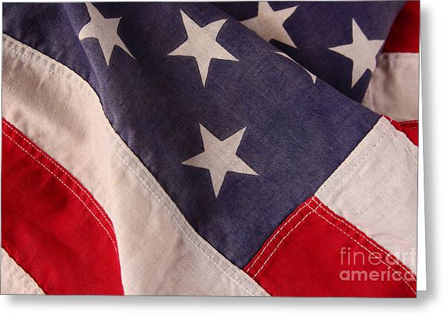 America Flag Greeting Card by Ruby Hummersmith