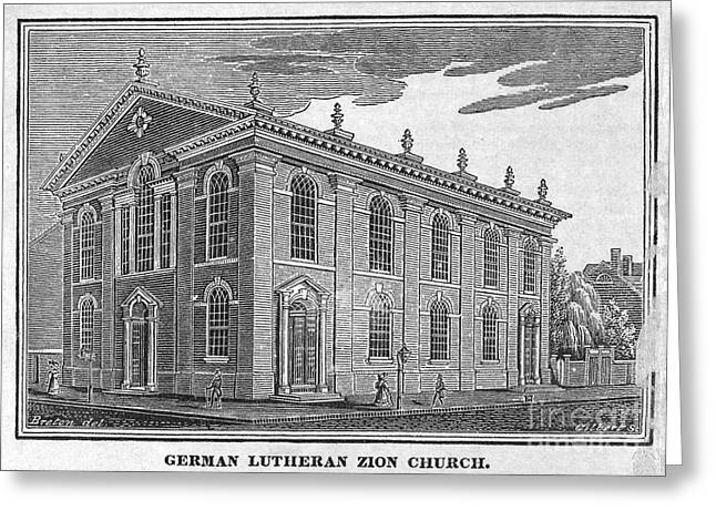 America: Lutheran Church Greeting Card