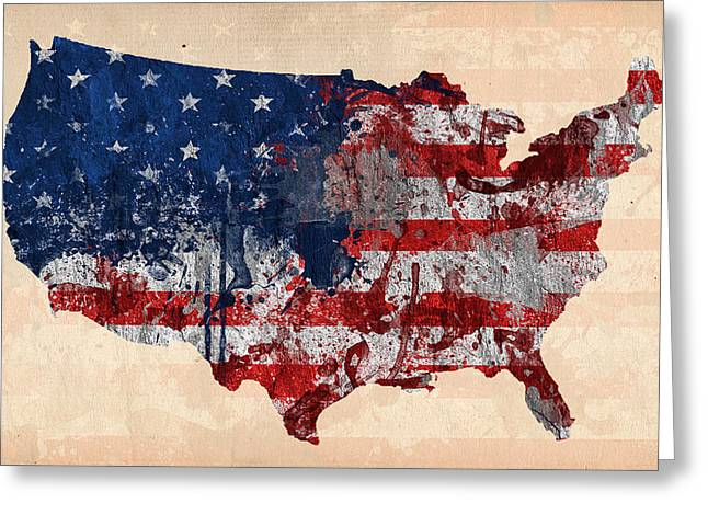 America Greeting Card by Mark Ashkenazi