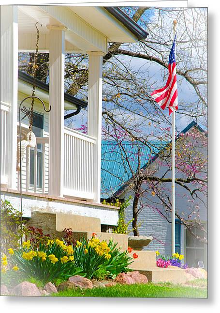 America The Beautiful In Spring Greeting Card by Christine Belt