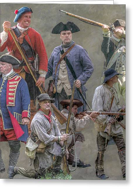 American At War Colonial American  Greeting Card by Randy Steele