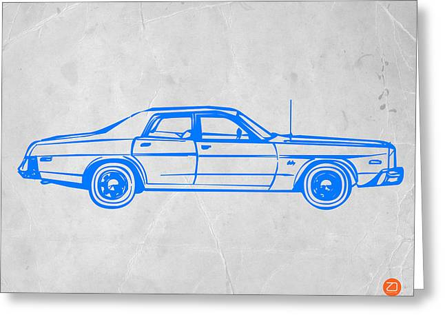 American Car Greeting Card by Naxart Studio