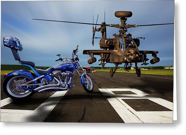 American Choppers 2 Greeting Card by Ken Brannen