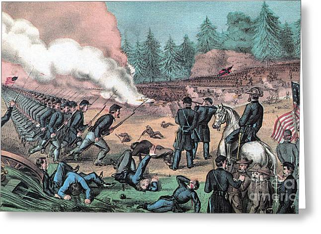 American Civil War, Battle Of Cold Greeting Card