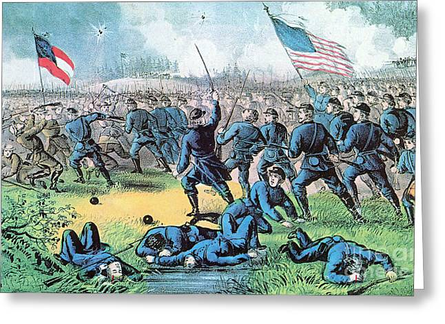 American Civil War, Battle Of Corinth Greeting Card by Photo Researchers