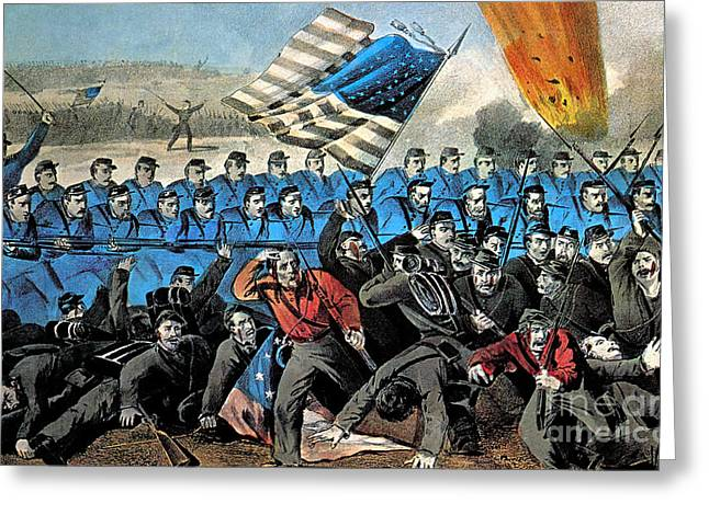 American Civil War, Battle Of Malvern Greeting Card