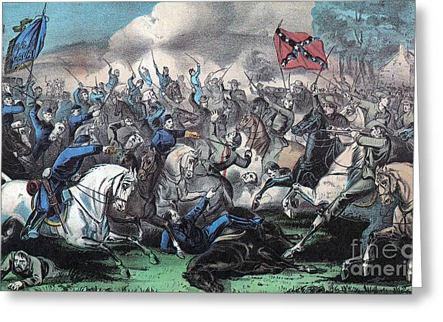 American Civil War, Battle Of Opequon Greeting Card by Photo Researchers