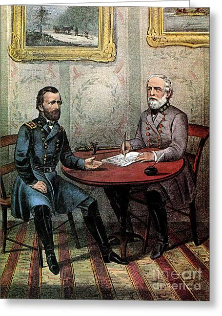 American Civil War  Greeting Card by Photo Researchers