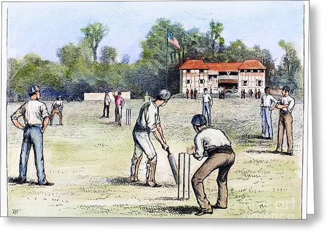 American Cricket, 1882 Greeting Card