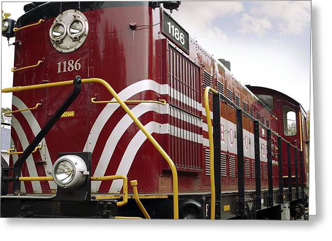 American Diesel Locomotive Greeting Card by Tony Craddock