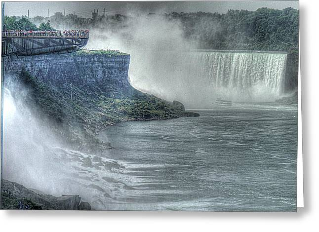 American Falls Greeting Card by William Fields