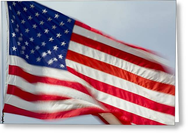 American Flag Greeting Card by Craig Tuttle