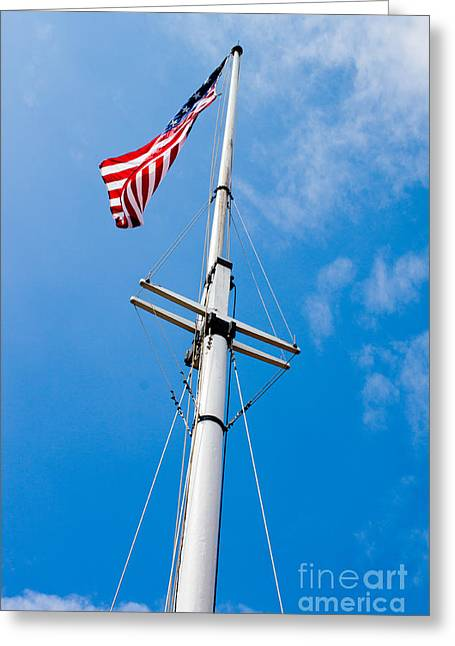 American Flag In Fort Mchenry Baltimore Maryland Greeting Card