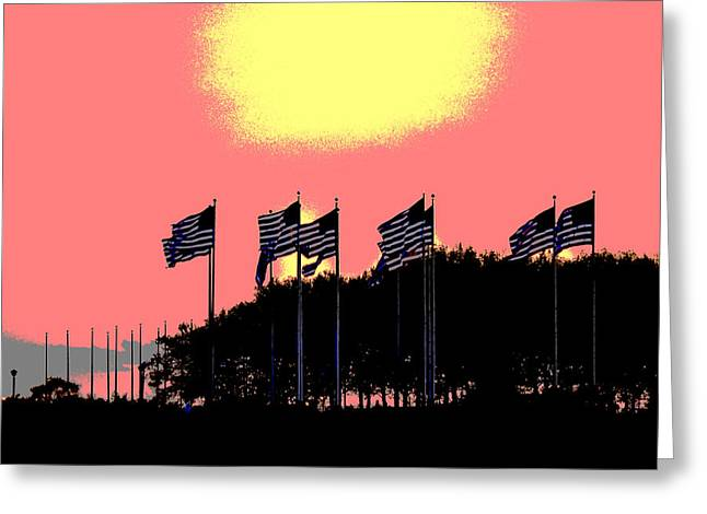 American Flags1 Greeting Card