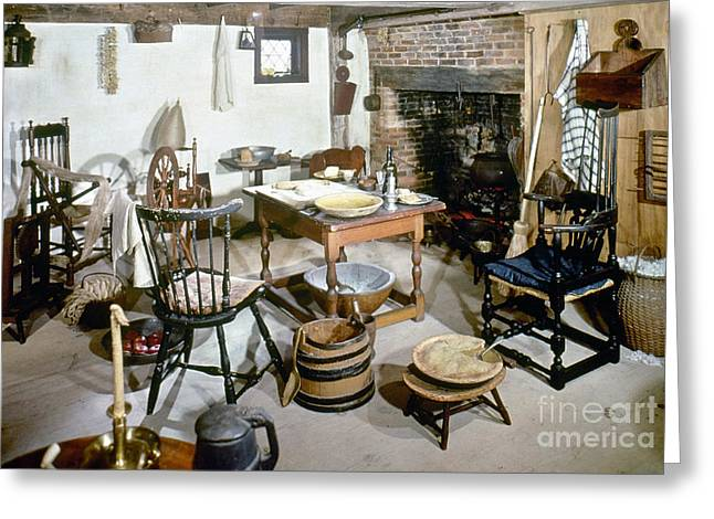 American Kitchen, 1695 Greeting Card by Granger
