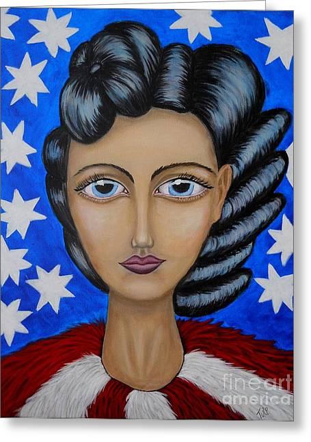 American Soul  Greeting Card by Claudia Tuli