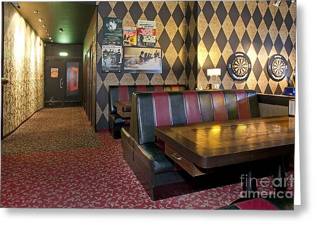 American Style Diner Interior Greeting Card by Jaak Nilson