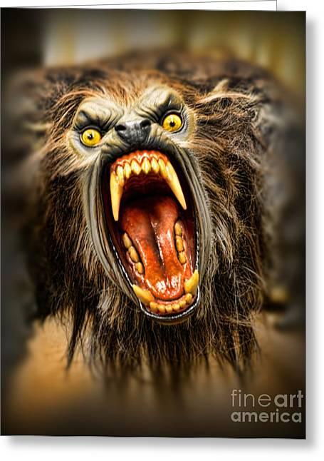 American Werewolf Greeting Card by Paul Ward