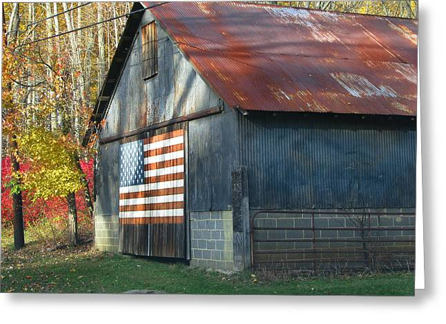 Greeting Card featuring the photograph Americana Barn by Clara Sue Beym