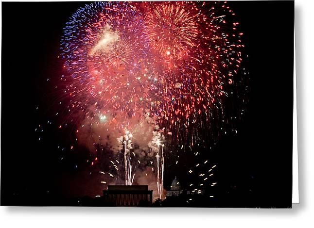 America's Celebration Greeting Card by David Hahn