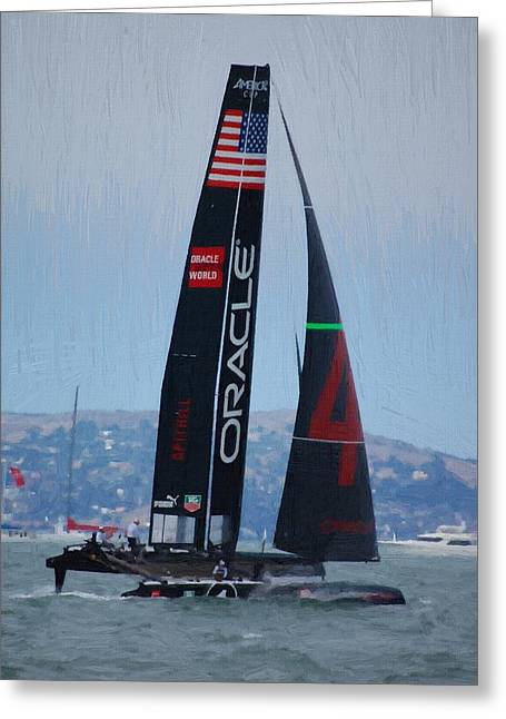 America's Cup World Series - Oracle-spithall Greeting Card