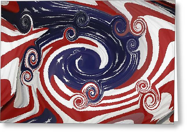 Americas Palette Greeting Card by DigiArt Diaries by Vicky B Fuller