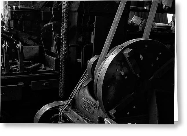 Greeting Card featuring the photograph Ames Mfg Co by Tom Singleton