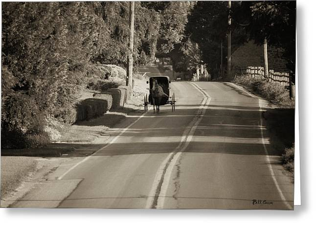 Amish Buggy - Lancaster County Pa Greeting Card by Bill Cannon
