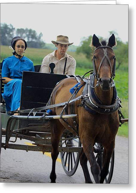 Amish Buggy Ride Greeting Card