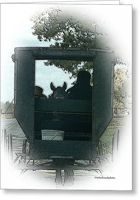 Amish Buggy Ride Greeting Card by TnBackroadsPhotos